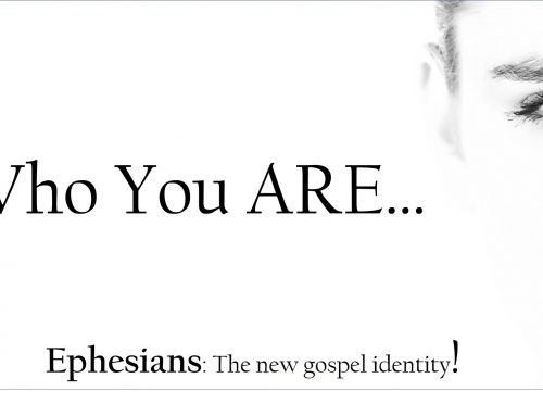 This Sunday:  Who You Are In Christ